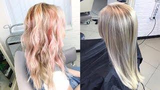 Окрашивание волос - объективно и субъективно о колористике. Ответ на злобные комменты. Розовый блонд