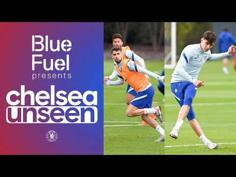 Kai Havertz, Jorginho & Giroud on 🔥 Head tennis, free-kick shoot-out | Chelsea Unseen