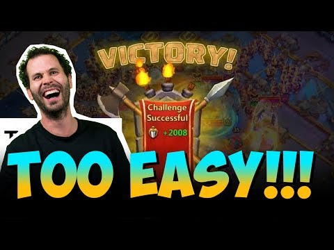 Guild Wars With ONE HERO 900,000 Might Bases Castle Clash