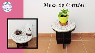 Mesa de Cartón DIY Muebles de cartón