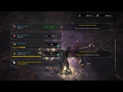 MHW: Odogaron hunt (hr8) quest fly to the bottom of the rotten vale(story spoilers)