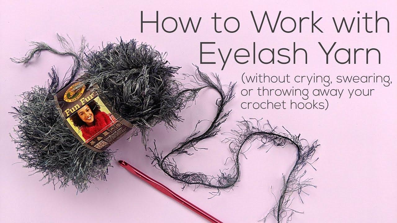 How to Crochet Eyelash Yarn