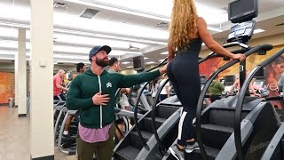 HITTING ON GIRLS AT LA FITNESS!