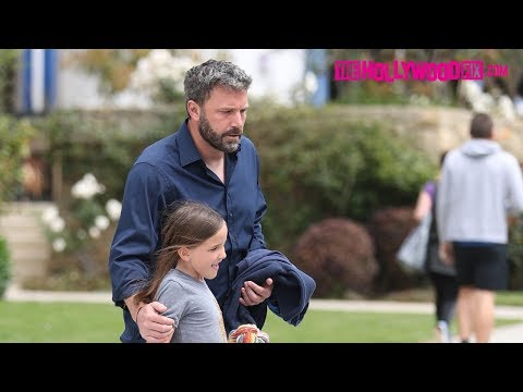Ben Affleck Gives His Daughter A Kiss At Church & Is Asked About Prince Harry & Meghan Markle