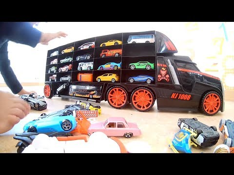Car Trailers for Kids  Car transport trailer for kids Cars Video for Children