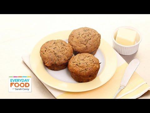 Zucchini-Banana Breakfast Muffin Recipe - Everyday Food with Sarah Carey