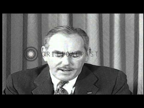 Dean Acheson, Secretary of State delivers a speech during Korea war Washington DC...HD Stock Footage