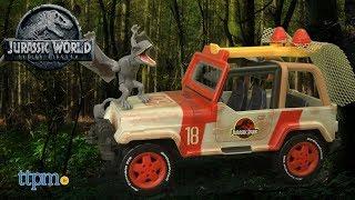 Matchbox Jurassic World Jeep Wrangler + Rescue Net from Mattel