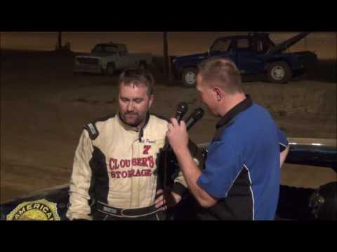 Bill Powell in victory lane at Path Valley 8-5-16