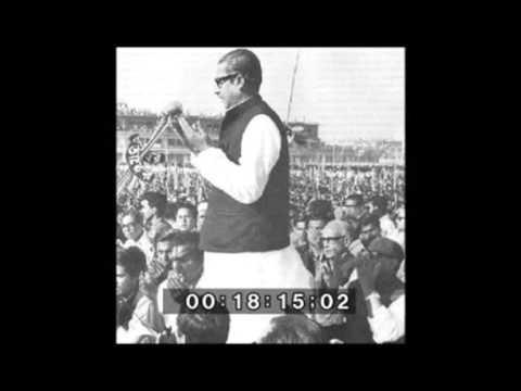 Sheikh Mujibur Rahman in kumilla 04/ 07/ 72