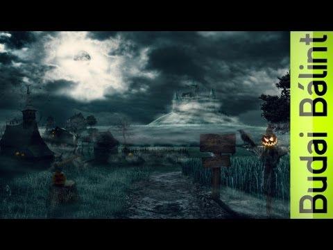 Mysterious Village ( #Photoshop CS6 Time Lapse)