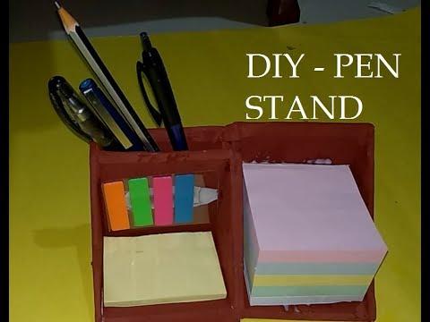 HOW TO MAKE PEN STAND / DESK ORGANIZER - DIY