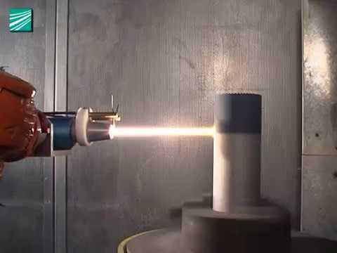 Thermal spraying of ceramic coatings with HVOF TopGun at Fraunhofer IWS