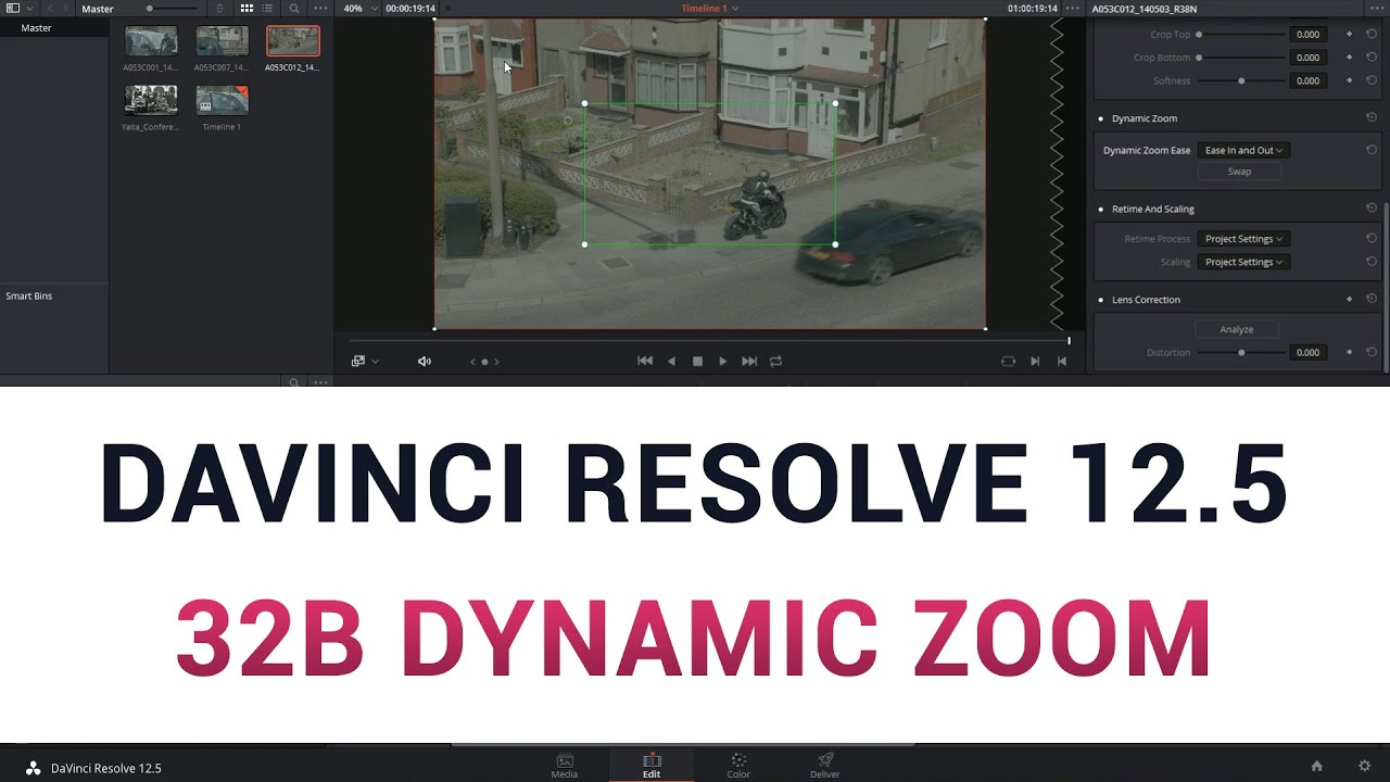 how to change aspect ratio in davinci resolve 12.5