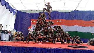 independenc  day indian army dance by ABCD group 1 prize
