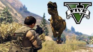 EL T-REX MUTANTE !! (dinosaurio) - GTA V Mods