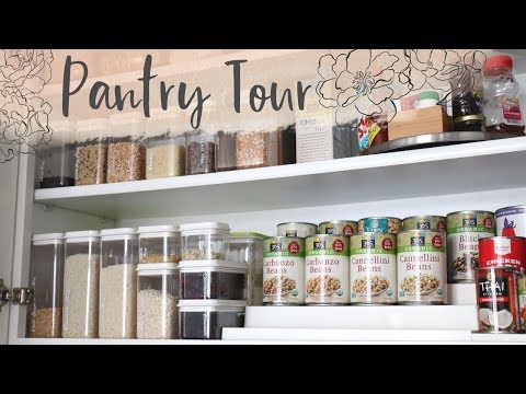 How I Organize My Upper Cabinet Pantry | Storage Ideas