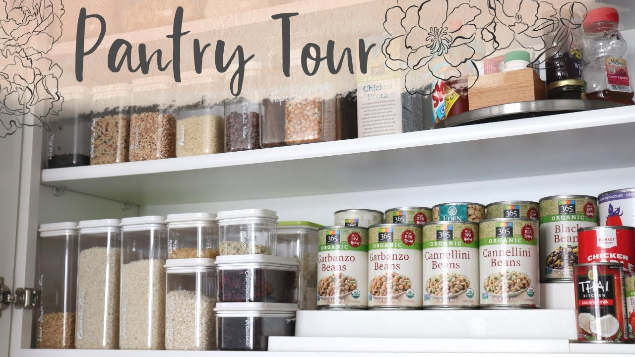 How I Organize My Upper Cabinet Pantry Storage Ideas Youtube
