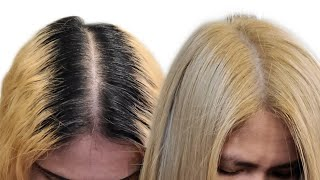 HOW TO TOUCH UP ROOTS | BRUNETTE TO BLONDE | BLEACH AND TONE