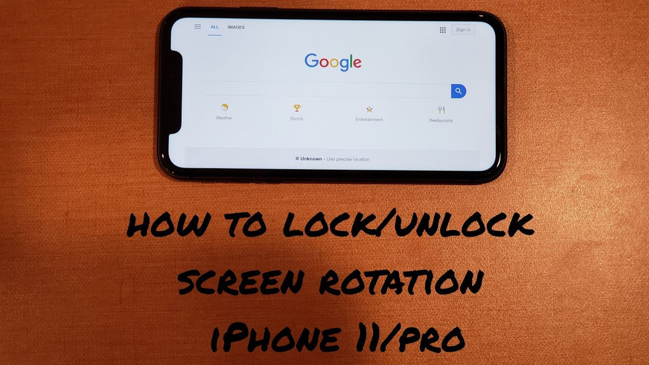 How To Turn Screen Rotation On And Off Iphone 11 Pro Youtube