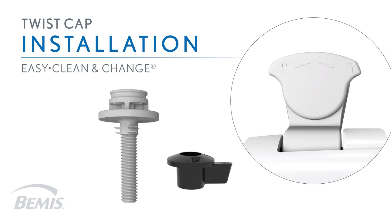 Installation: Twist Cap Hinge Easy to Clean Toilet Seat   YouTube
