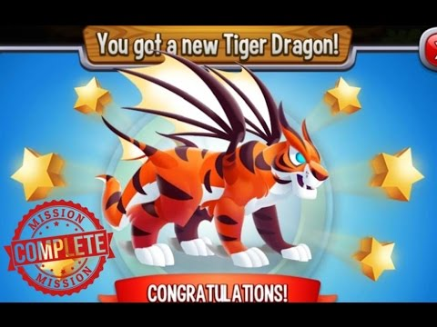 Dragon City - Tiger Dragon [4 Pieces - Mission Completed]