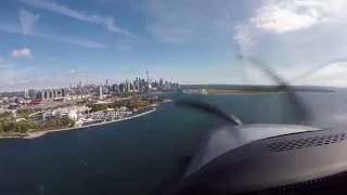 Cirrus SR22T Landing CYTZ Billy Bishop Toronto Canada - Rwy 08