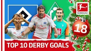 Top 10 Nordderby Goals - Hamburger SV vs Werder Bremen - Bundesliga 2018 Advent Calendar 18