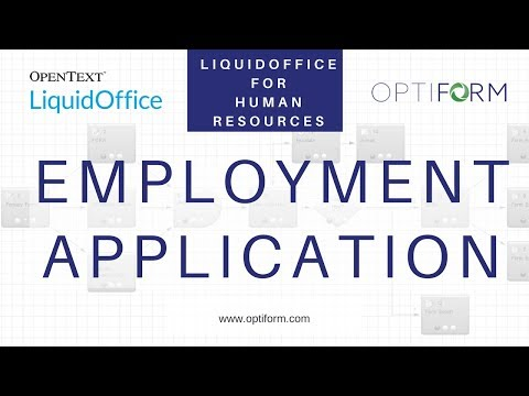 How to Use OpenText LiquidOffice for Human Resources Employment Applications