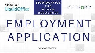 Mike finney at opentext provides a walk-through demonstration of liquidoffice and how hr departments can use the software to create electronic forms auto...