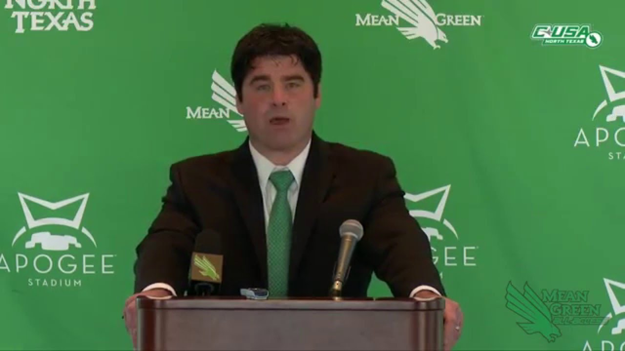North Texas Football: Seth Littrell Introductory Press Conference ...