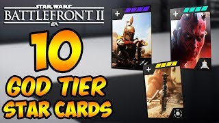 Star Wars Battlefront 2 - 10 Hero Star Cards to Make You a Battlefront II GOD! (Best Star Cards)