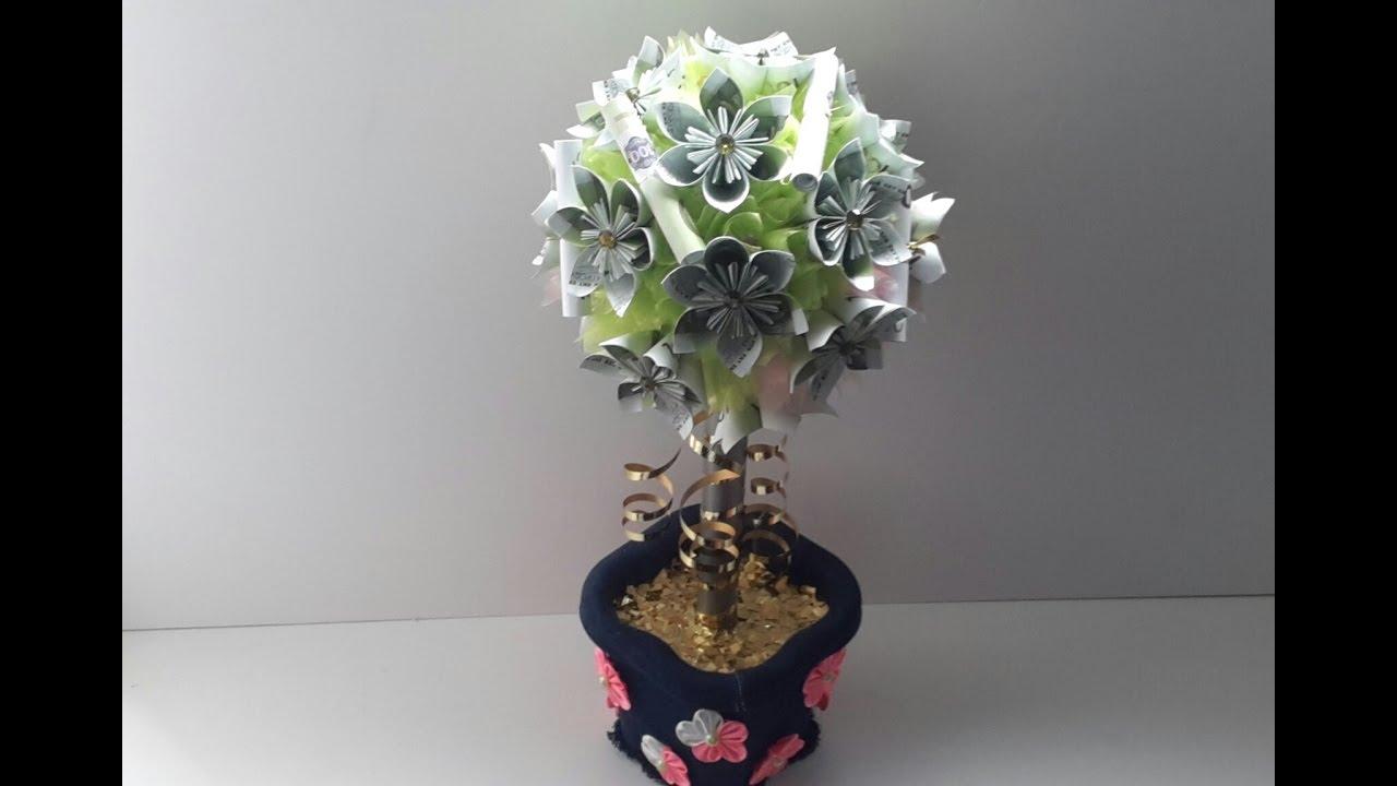 Денежное дерево своими руками из монет топиарий своими руками фото 15