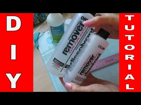 DIY Gel Nails Cleanser To Remove  Sticky Layer.