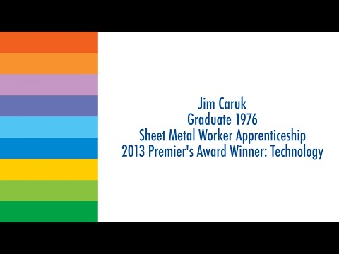 2013 Premier's Award Winner - Jim Caruk
