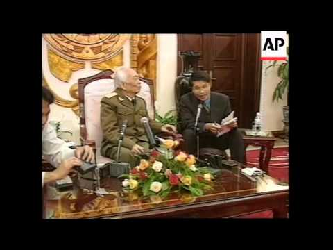 VIETNAM: HANOI: GENERAL GIAP'S PRESS CONFERENCE