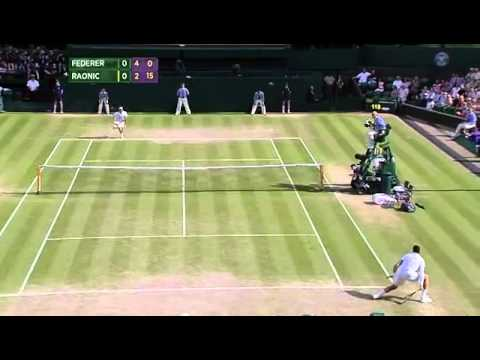 Milos Raonic incredible touch - Wimbledon 2014