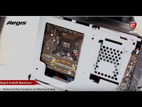 TUTO MSI - Comment mettre à jour la mémoire et le SSD de l'Aegis