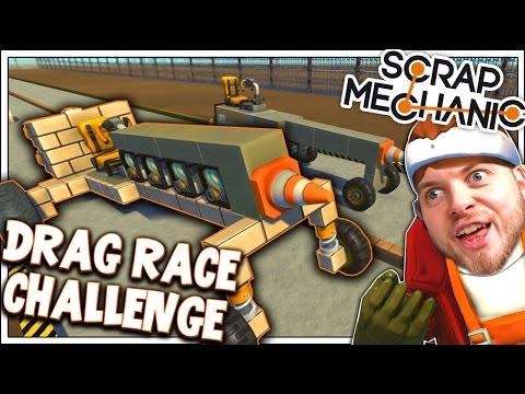 Scrap Mechanic! - DRAG RACE CHALLENGE! Vs AshDubh - [#6] | Gameplay |