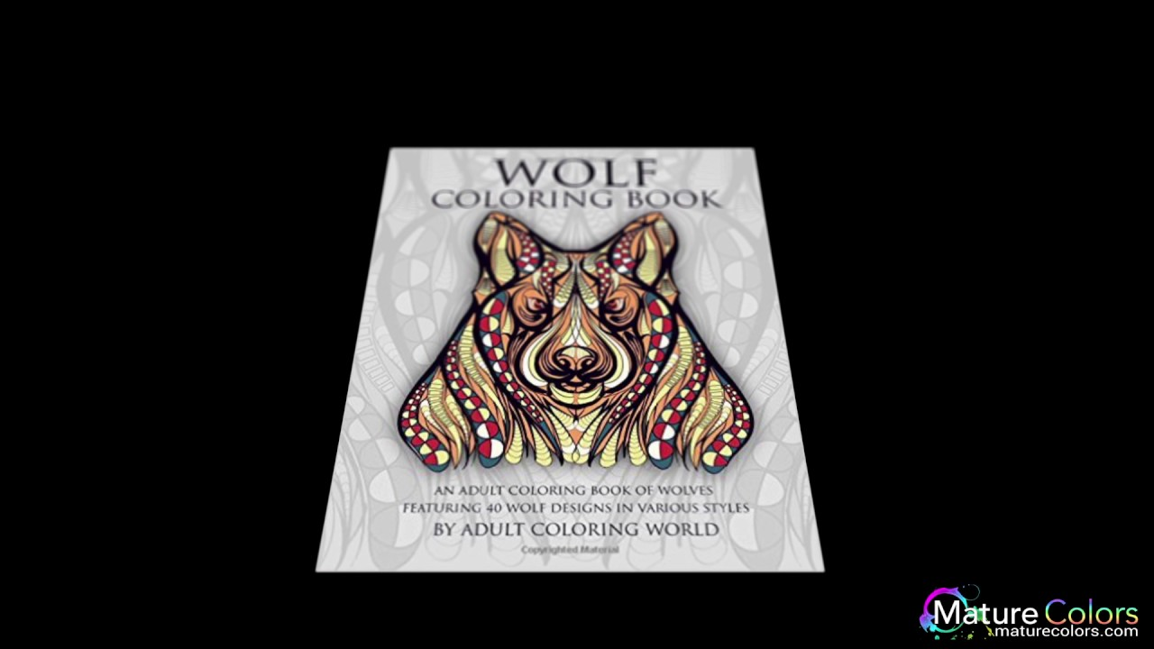 wolf coloring book an coloring book of wolves featuring 40