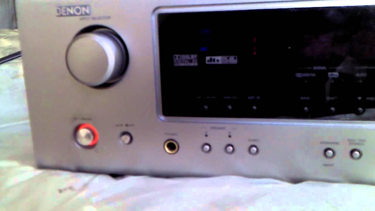 denon avr 686 surround reciever power problemss youtube rh youtube com Denon AVR- 1910 Remote Control Denon AVR 300 Manual