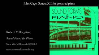 John Cage: Sonata XII for prepared piano