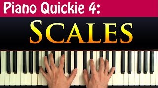Piano Quickie 4: Scales - How To Construct Major, Minor And Diminished Scales