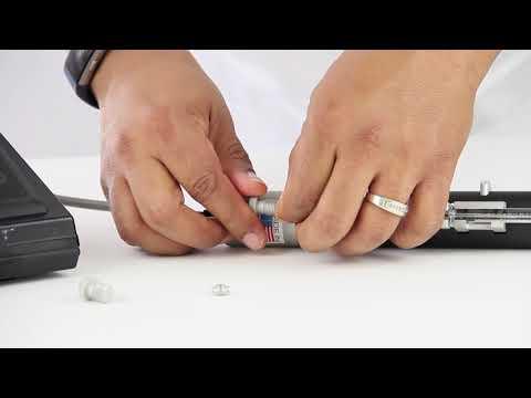 How to install a 5 µL Hamilton Neuros syringe on a UMP3