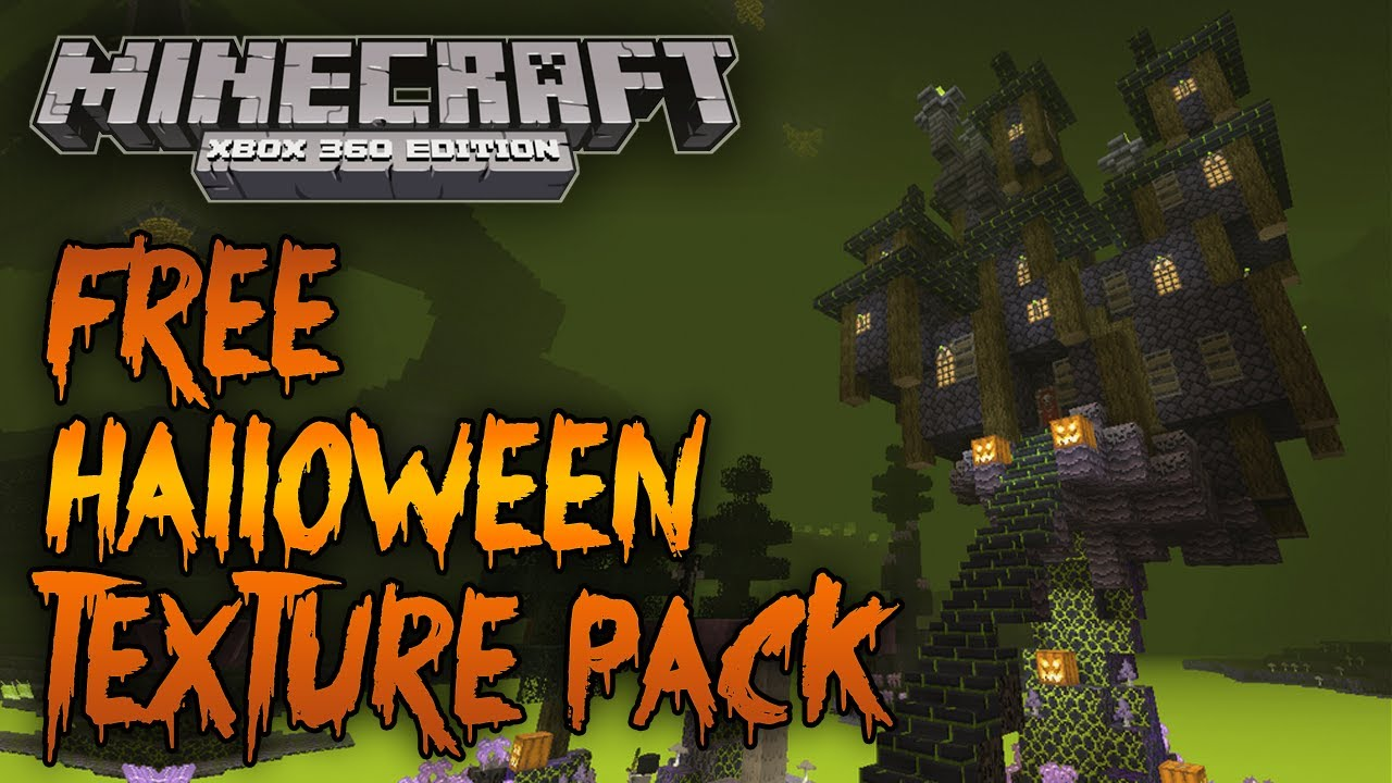 minecraft xbox 360 free halloween texture pack gameplay showcase - Halloween Xbox 360