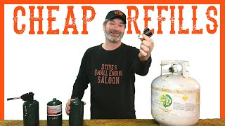 How To Easily Reḟill Your 1 lb Propane Bottle - Video