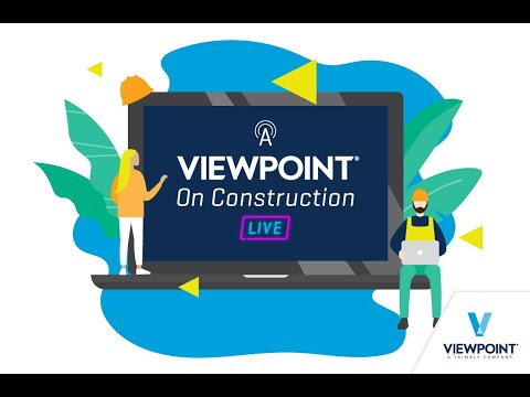 A Viewpoint on Construction Live - Episode 3 - Professional Services and You