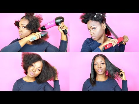 Blow Dry and Flat Iron | NATURAL HAIR