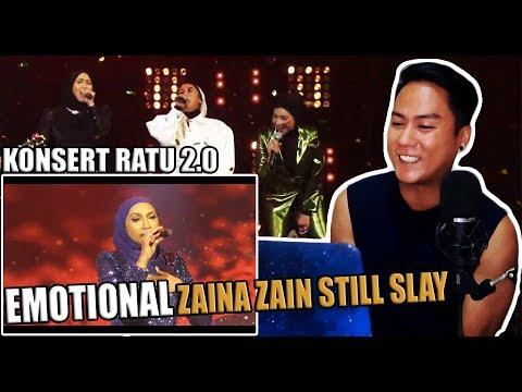 Ziana Zain - Menangis Nyanyi Lagu BERPISAH JUA Di Konsert RATU 2 0 | REACTION