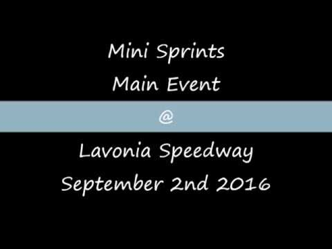 Mini Sprints Main @ Lavonia Speedway September 2nd 2016